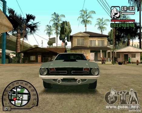 Plymouth Hemi Cuda 440 para GTA San Andreas left