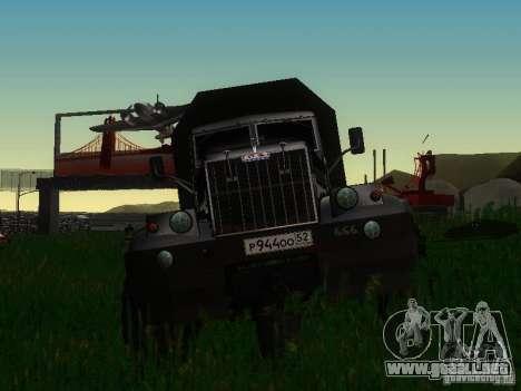 KrAZ-254 para vista lateral GTA San Andreas