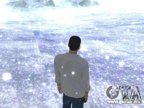 Snow MOD HQ V2.0 para GTA San Andreas sucesivamente de pantalla