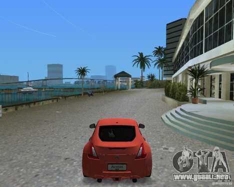 Nissan 370Z para GTA Vice City vista lateral izquierdo