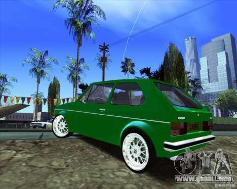 Volkswagen Golf MK 1 para GTA San Andreas vista posterior izquierda