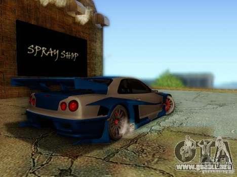 Nissan Skyline GTR34 DTM para GTA San Andreas left