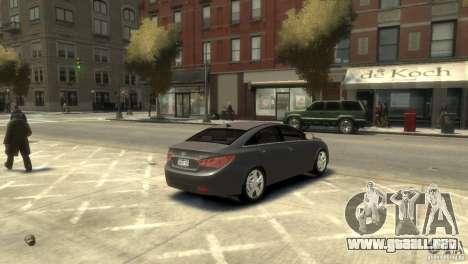 Hyundai Sonata para GTA 4 Vista posterior izquierda