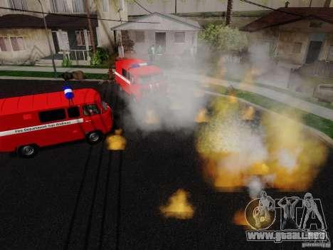 UAZ 3909 fuego para la visión correcta GTA San Andreas