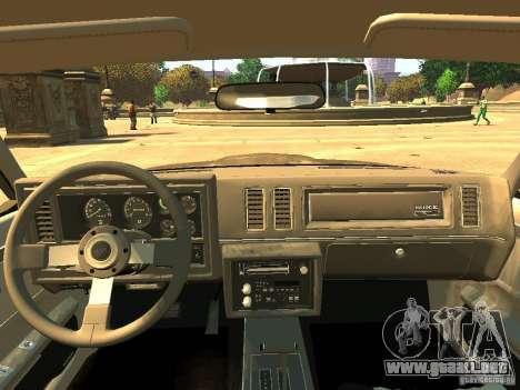 Buick Regal GNX para GTA 4 vista hacia atrás