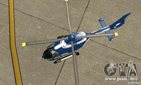 EC-135 Gendarmerie para GTA San Andreas vista hacia atrás