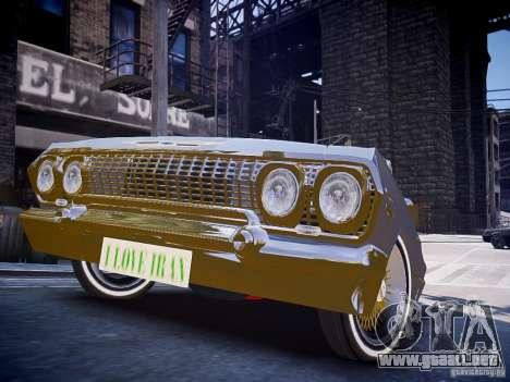 Chevrolet Impala 63 para GTA 4 visión correcta