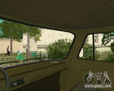 3303 UAZ para GTA San Andreas vista hacia atrás