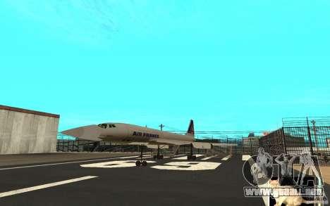 Concorde Air France para GTA San Andreas left