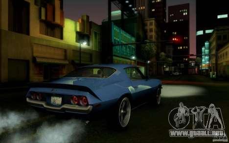 Chevrolet Camaro Z28 para la visión correcta GTA San Andreas