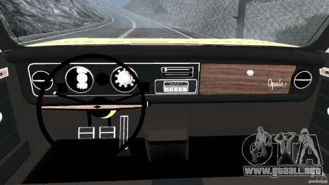 Chevrolet Opala Gran Luxo para GTA 4 vista hacia atrás