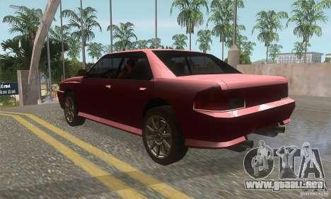New Sultan HD para GTA San Andreas vista posterior izquierda