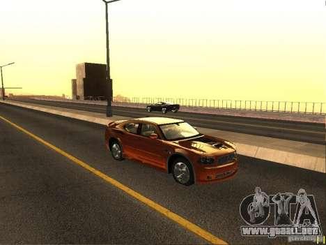 Dodge Charger From NFS CARBON para GTA San Andreas vista posterior izquierda
