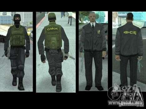 Skin reemplaza PD, el ejército y una piel del FB para GTA San Andreas sexta pantalla