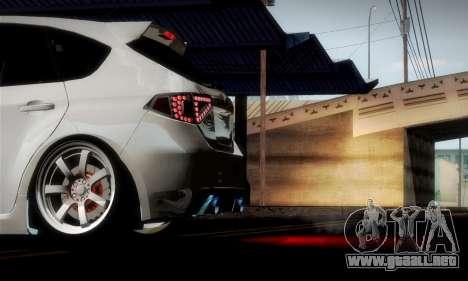 Subaru Impreza WRX Camber para GTA San Andreas interior