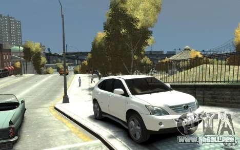 Lexus RX 400h para GTA 4 vista hacia atrás