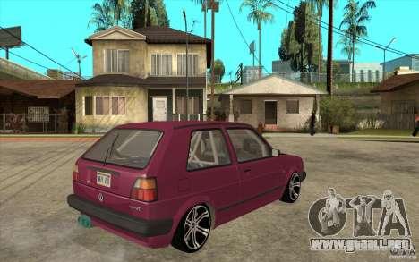 VW Golf 2 GTI para la visión correcta GTA San Andreas