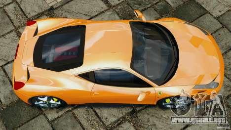 Ferrari 458 Italia 2010 v3.0 para GTA 4 visión correcta