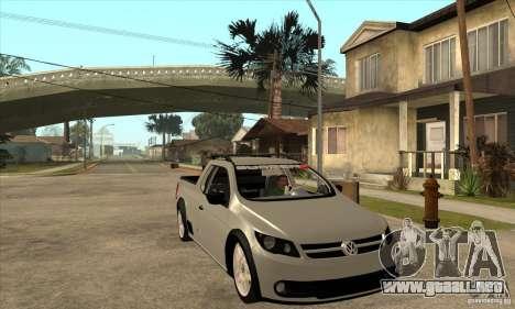 Volkswagen Saveiro G5 para GTA San Andreas vista hacia atrás