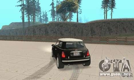 Mini Cooper Hardtop para GTA San Andreas left