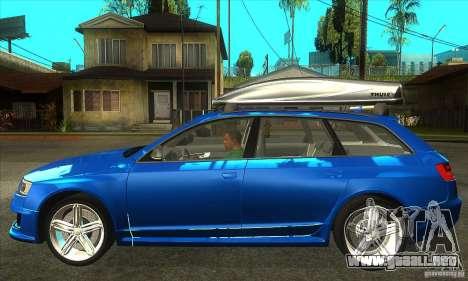 Audi RS6 Avant 2009 para GTA San Andreas left
