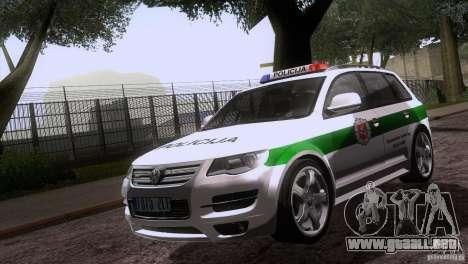 Volkswagen Touareg Policija para visión interna GTA San Andreas