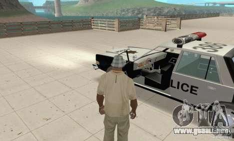 Dodge Diplomat 1985 Police para GTA San Andreas vista hacia atrás
