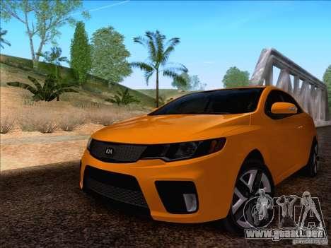 Kia Forte Koup SX para GTA San Andreas vista posterior izquierda
