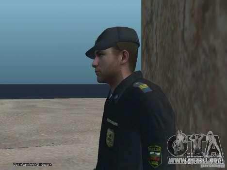 Sargento PPP para GTA San Andreas sucesivamente de pantalla