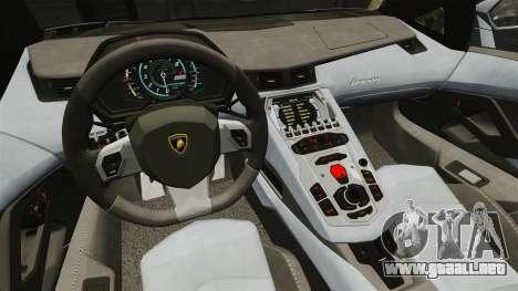 Lamborghini Aventador LP700-4 2012 v2.0 EPM para GTA 4 vista interior