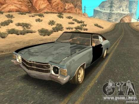 Chevrolet Chevelle Rustelle para vista inferior GTA San Andreas