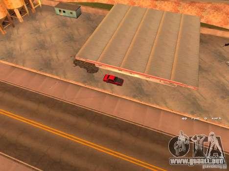Previon GT para GTA San Andreas vista hacia atrás