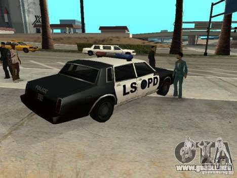 Tahoma Police para GTA San Andreas vista posterior izquierda
