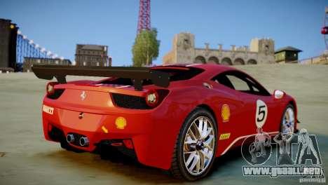 Ferrari 458 Challenge 2011 para GTA 4 Vista posterior izquierda