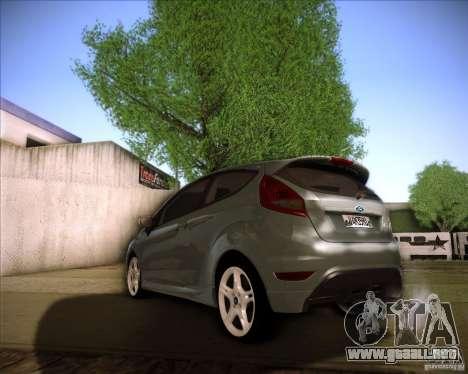 Ford Fiesta Zetec S 2010 para GTA San Andreas vista posterior izquierda