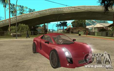 Mastretta MXT para GTA San Andreas vista hacia atrás