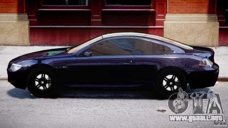 BMW M6 Orange-Black Bullet para GTA 4 Vista posterior izquierda