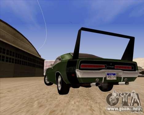 Dodge Charger Daytona 1969 para GTA San Andreas vista hacia atrás