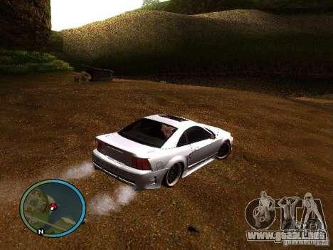 Saleen S281 para GTA San Andreas vista posterior izquierda