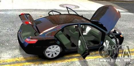 Toyota Camry V6 3.5 2007 para GTA 4 vista hacia atrás