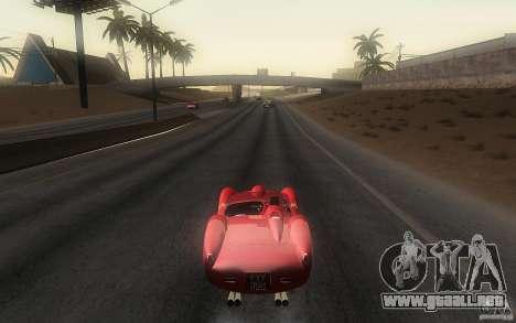 Ferrari 250 Testa Rossa para GTA San Andreas vista posterior izquierda