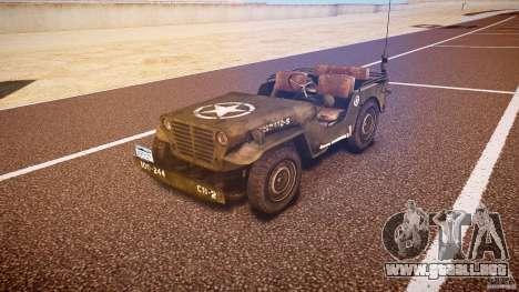 Walter Military (Willys MB 44) v1.0 para GTA 4