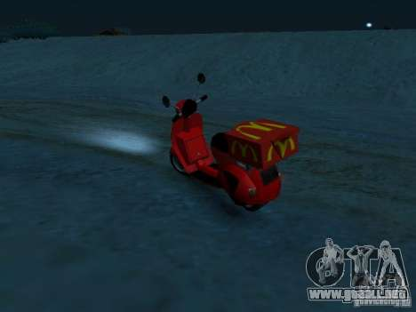 McDonalds Pizzaboy para GTA San Andreas left
