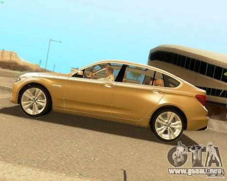 BMW 550i GranTurismo 2009 V1.0 para GTA San Andreas left