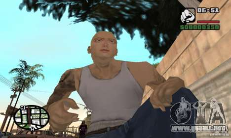 Eminem para GTA San Andreas sucesivamente de pantalla
