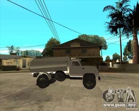 Camión de combustible Gaz-52 para la visión correcta GTA San Andreas