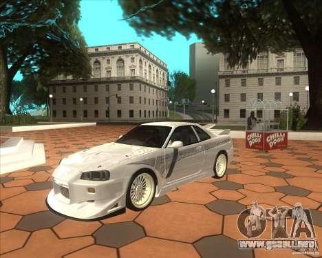 Nissan Skyline R34 Veilside street drag para GTA San Andreas left