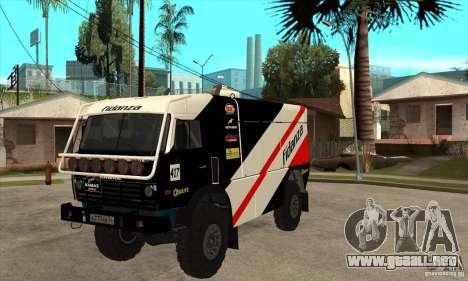 KAMAZ 4911 Rally MASTER para GTA San Andreas left