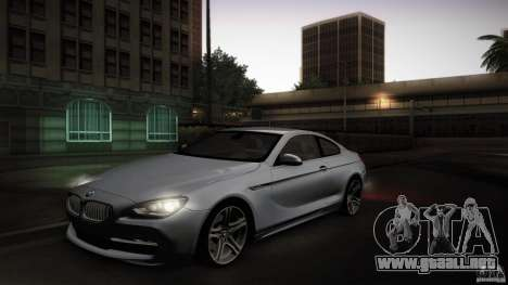 BMW 640i Coupe para visión interna GTA San Andreas