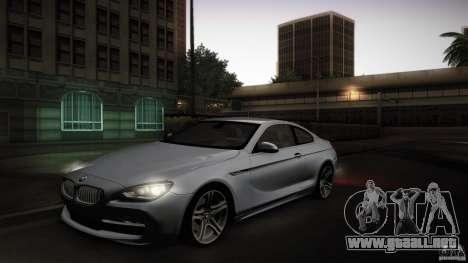 BMW 640i Coupe para visión interna GTA San Andreas